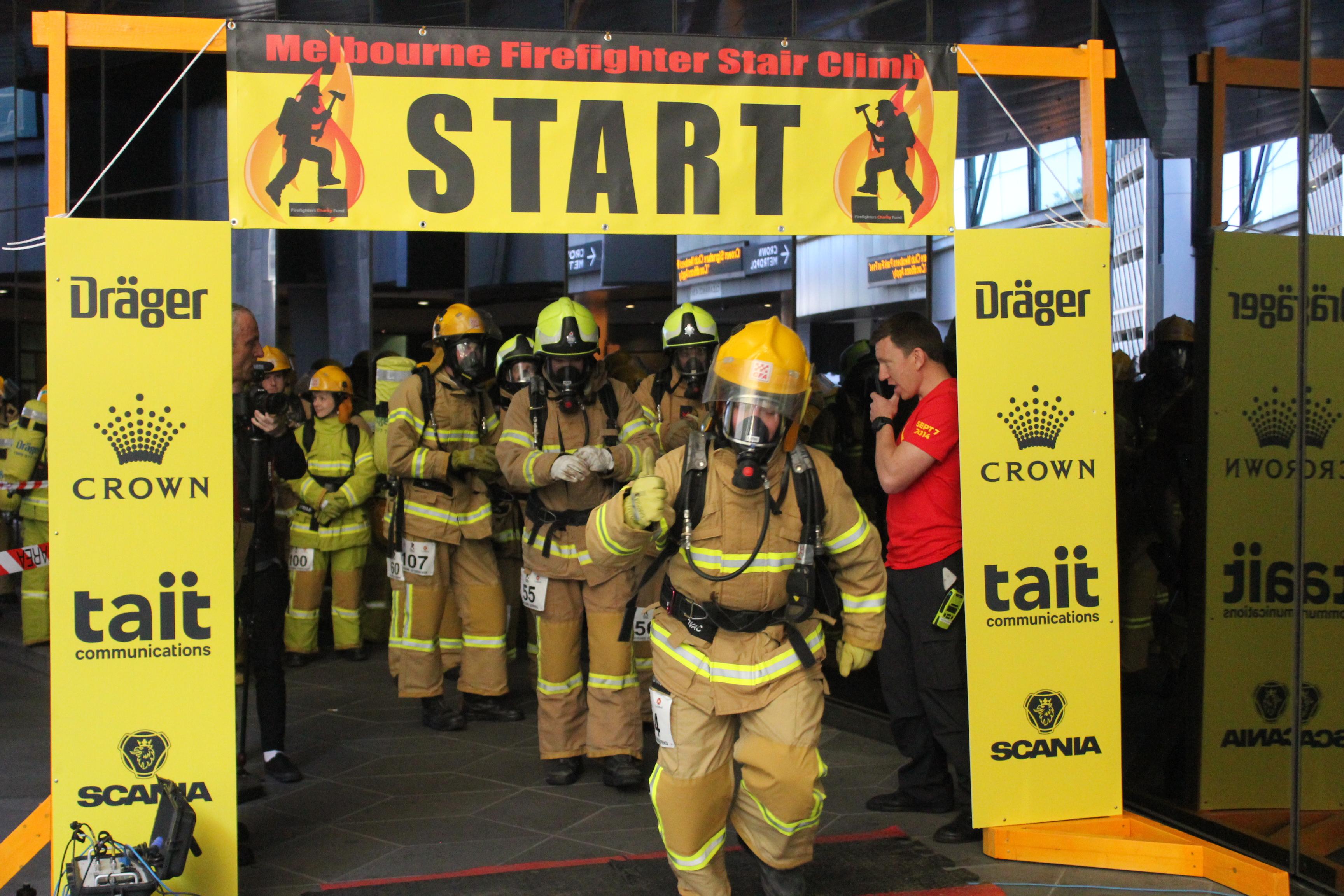 Simon Jakovac Melbourne Firefighter Stair Climb